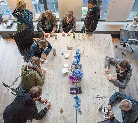 Mitmach Aktion Blauer Abend Köln Nippes