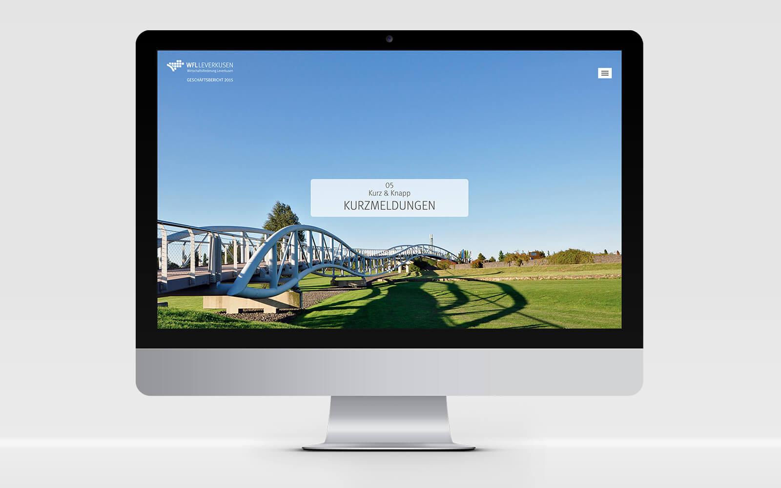 Digitaler Geschäftsbericht Wirtschaftsförderung Leverkusen