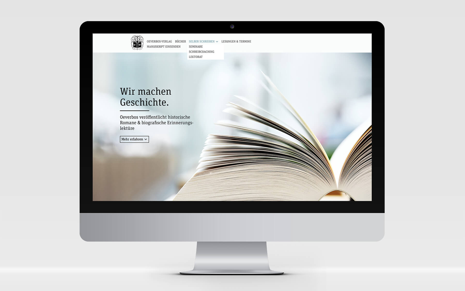 Oeverbos Verlag Corporate Design Website